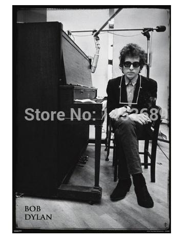 Custom Bob Dylan Piano Music Pop Classic Stylish Nice Home Decor Retro MoviePoster(30x90cm) Wall Sticker Free Shipping IJ9-93779(China (Mainland))