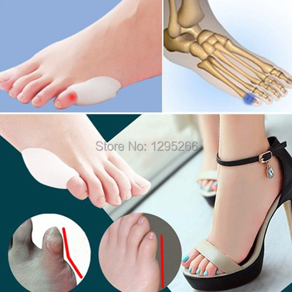 2Pairs Feet Care Little Silicone Gel Toe Separator Eases Bunion Hallux Valgus Guard Foot Care Product free shipping SfCq