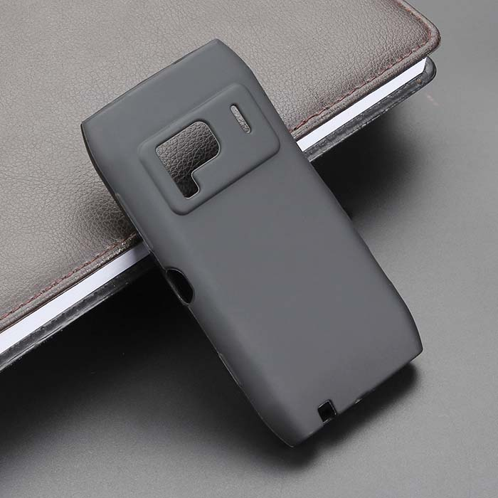 For Nokia N8 N8-00 New High Quality Flexible Black And White TPU Matte Silicone Gel Skin Case Cover(China (Mainland))