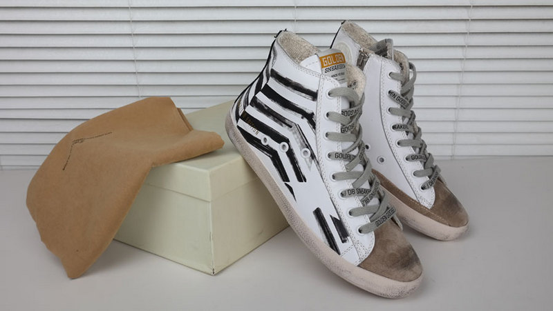 New Golden Goose white New York Sneaker Worn Men Women high Cut Shoes Sneakers R56A09(China (Mainland))