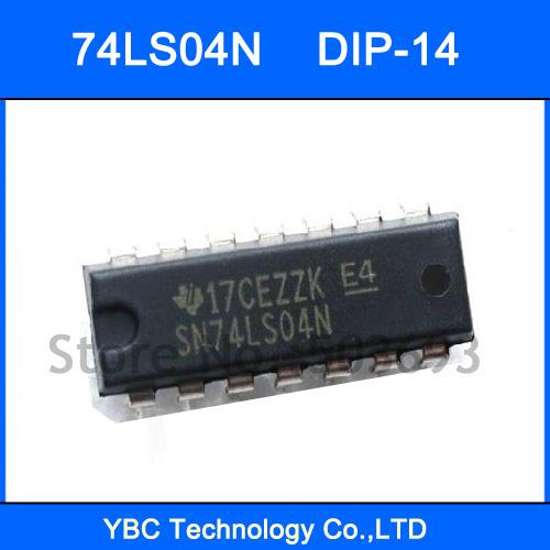 100PCS SN74LS04N 74LS04 7404 Drivers Hex Inverter Inverting Buffer DIP-14(China (Mainland))