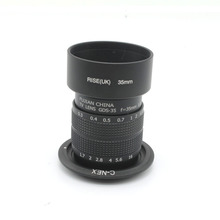 Buy black Fujian 35mm F1.7 CCTV TV Movie lens + Mount +hood Sony NEX &tracking number for $38.21 in AliExpress store
