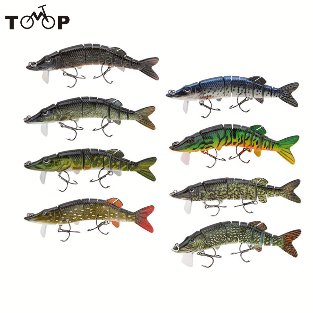 Lixada 5 9 segement pike lure with mouth swimbait for Musky fishing lures