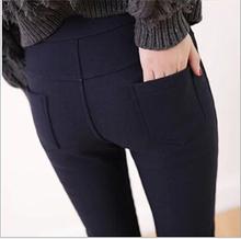 women leggings 2015 M,L,XL Plus Size Leggings Women Pencil Pants Candy Colors Leggings With Pocket roupas femininas 2015 BG77(China (Mainland))