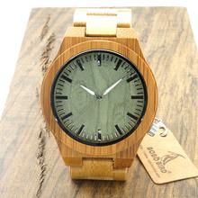 Chegada nova Original relógio de Pulso dos homens De Madeira De Bambu Clássico Fecho Dobrável Quarzt Relógio de Pulso Movimento