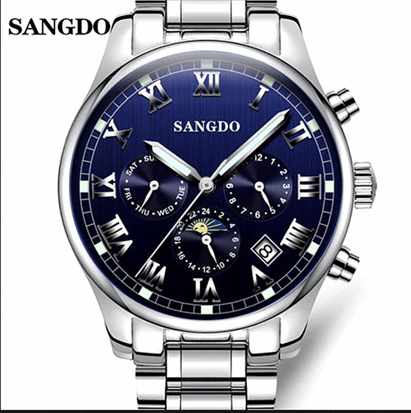 Sonderbund sangdo male watch fully-automatic mechanical watch male needle multifunctional luminous waterproof steel band mens<br><br>Aliexpress