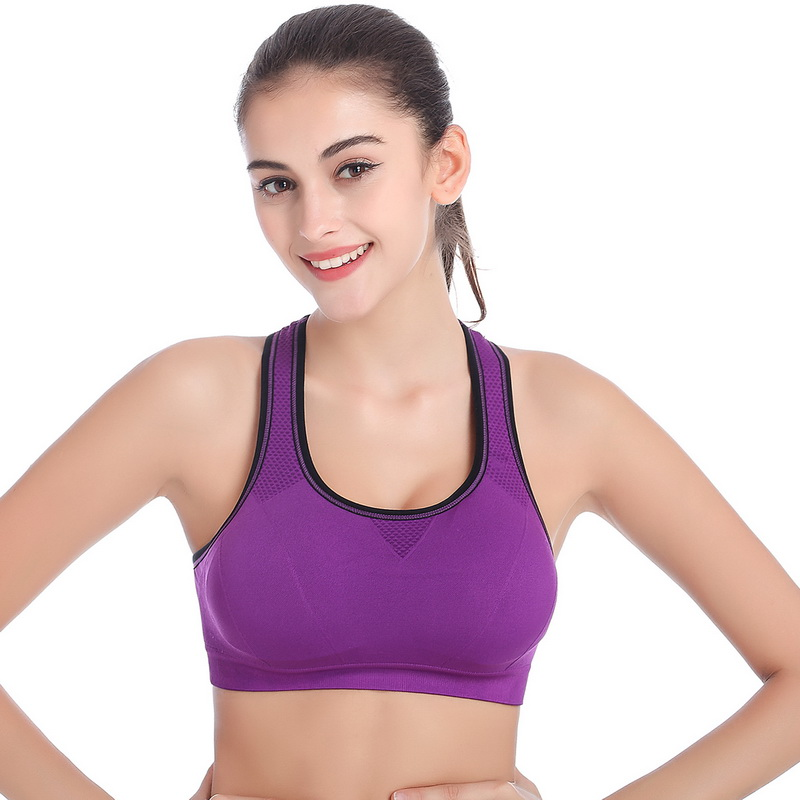 New Series Bra Strech Vest Women Sport Gym Athletic Padded Soft Bra Wicking And Quick-Drying 1PC(China (Mainland))