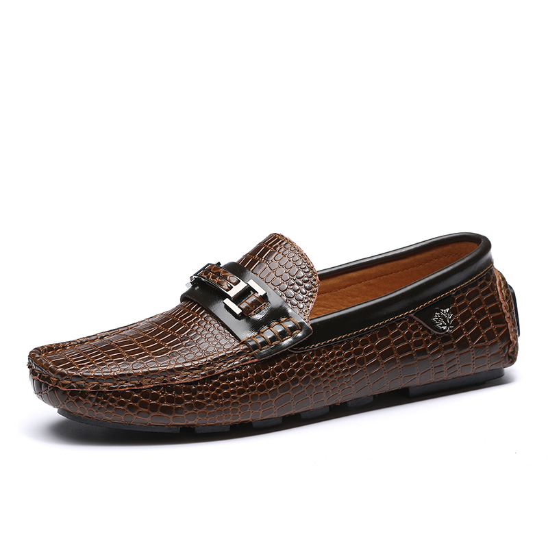 2016 men's leather shoes doug lazy flat non-slip shoes
