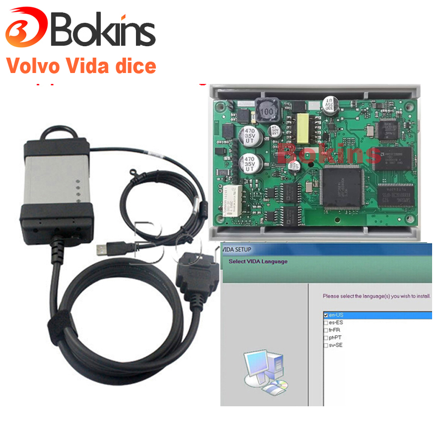 2015 Newest Version for Volvo Vida Dice 2014D for Volvo Diagnostic Tool for Volvo Dice with Full chips Free Shipping(China (Mainland))