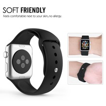 For Apple watch Band 42mm Correa Silicone Sport Adapter Bracelet for iWatch Strap Band 38mm with Tracking Number