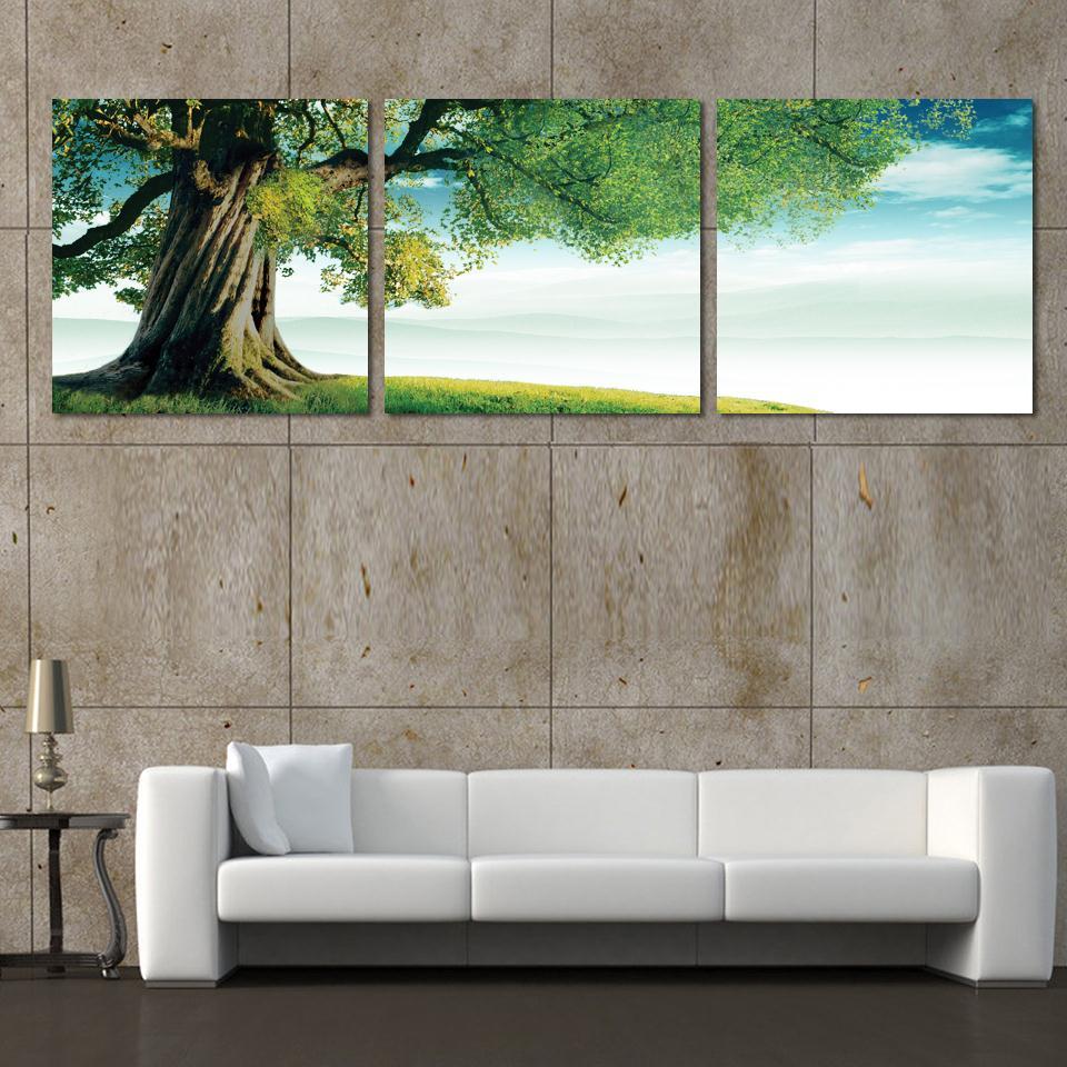 Online kopen wholesale groene boom schilderen uit china groene boom schilderen groothandel - Schilderij romantische kamer ...