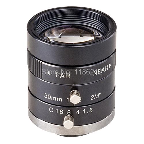 ZLKC 2 Mega Pixels and large aperture 50mm Mono-Focal Manual Iris cctv lens(China (Mainland))