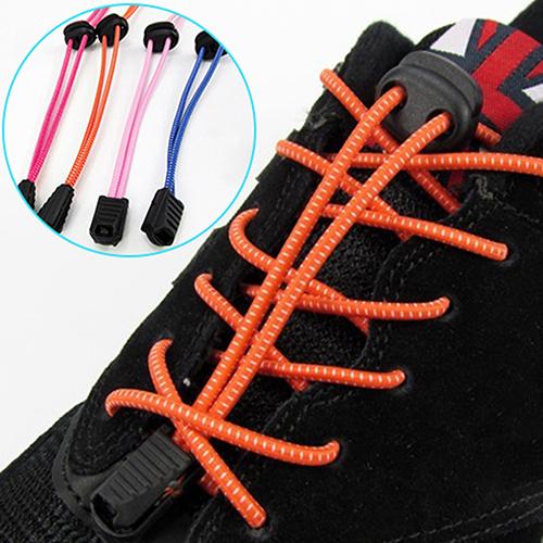 1Pair 1m No Tying Locking Shoe Laces Elastic Adjustable Shoestrings