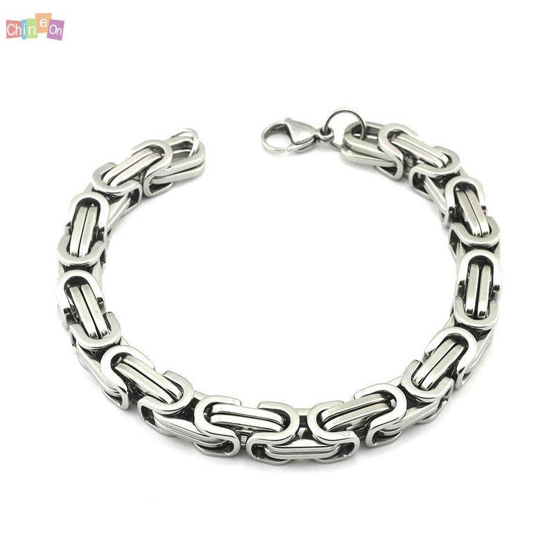 silver fashion s casual wristband clasp cuff bangle