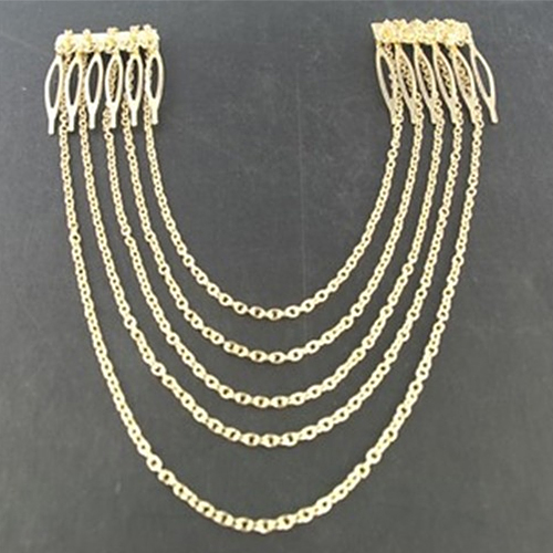 Popular Fashion Metal Long Tassel Chains Cuff Hair Combs Women Girls Hairband Headwear Hairwear(China (Mainland))
