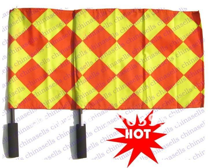 in stock 6set soccer referee Flag Football Referee linesman's flag Soccer referee equipment(China (Mainland))