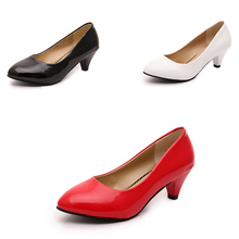 2016 Tenis Feminino Red Bottom High Heels Office Professional Leather Work Shoes Wedges Black High Heels