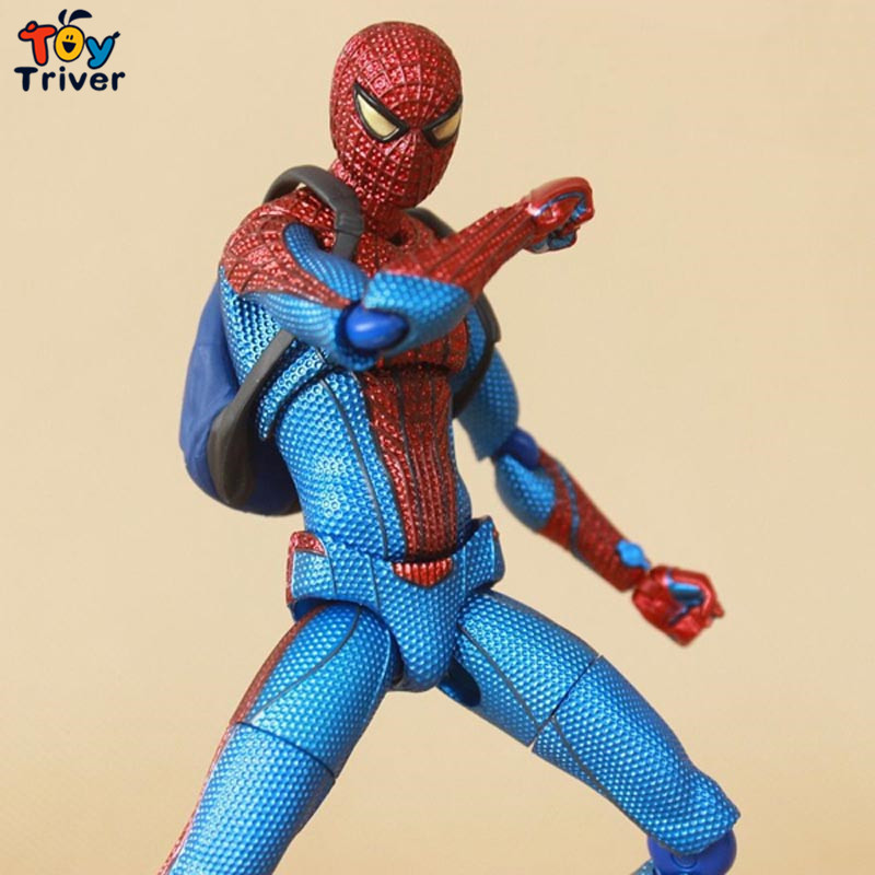 2016 Spider man The Amazing Spiderman Figma 199 PVC Action Figure Collectible Model Toy 15cm free shipping<br><br>Aliexpress