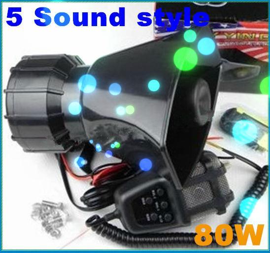 5 sound style Elegant design Car Electronic Warning Siren Alarm Police Firemen Ambulance Loudspeaker Speaker(China (Mainland))