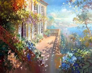 Солнечное утро живописи по номерам Куадрос Decoracion Home Decor настенные панно для гостиной DIY картина маслом на холсте A023
