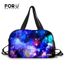 Brand Design Women Men Travel Bag Duffle Bags Universe Space Printing Luggage Handbags Large Capacity Carry on Weekender Bag(China (Mainland))