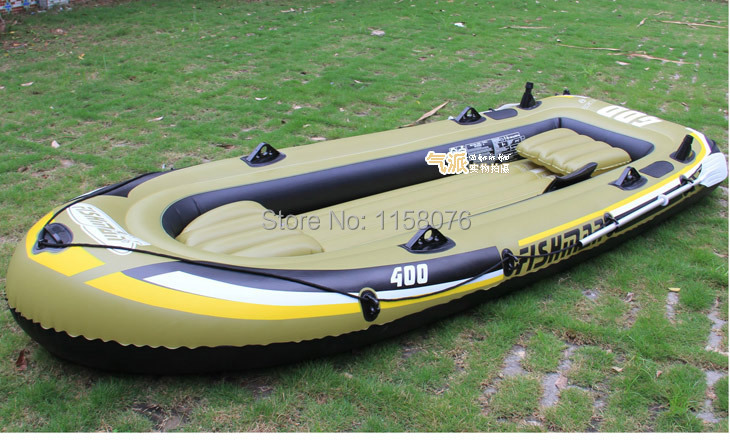 5 person 340x142x48cm fishing boat inflatable boat kayak for 4 person fishing boat