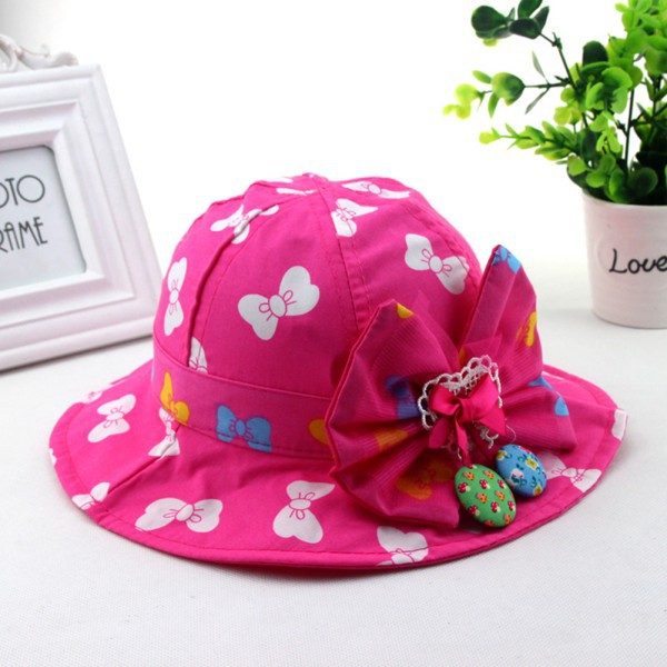 Fashion Baby Boy Girl Hat Toddlers Bucket Sun Cap Beach Cotton Sun Visor Hat Hot(China (Mainland))