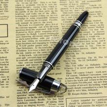 Buy BAOER 79 Bright Black Starwalker Medium Nib Fountain Pen Silvery Trim HOT for $2.23 in AliExpress store