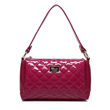 Womens 2017 New Designer Shoulder Evening Clutch Purse Quilted Wristlet Bags PU Orange Wine Red Handbags Free Shipping 3015(China (Mainland))