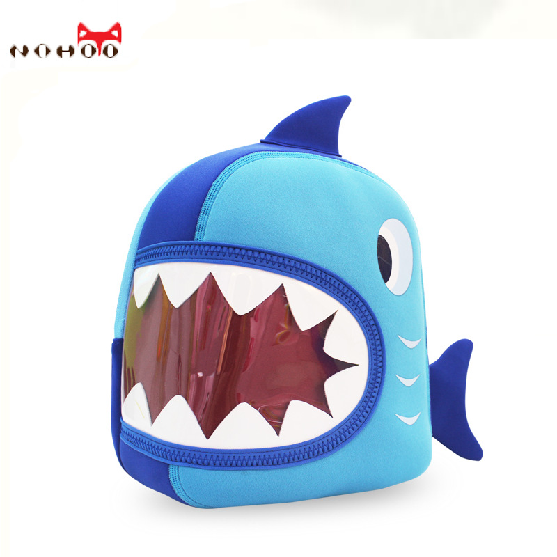 2016 New Arrival Sale Animal > 3 Years Old 9kg Kindergarten Children's Cartoon Bag 3d Shark Stereo Waterproof Backpack Boys(China (Mainland))