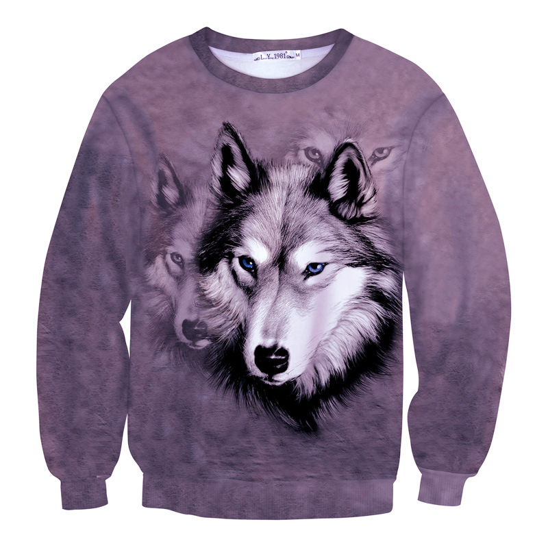 Era Dyehouse new tie dye 3D animal sweatshirt wolf dog print funny hoody for men women cool sweat unisex tide pullovers clothes(China (Mainland))