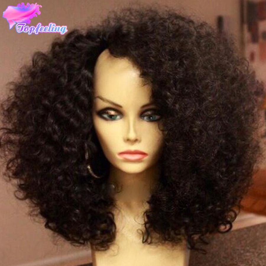 7A Brazilian U Part Human Hair Wigs Virgin Kinky Curly U Part Human Hair Wigs For Black Women Kinky Curly Glueless U Part Wigs
