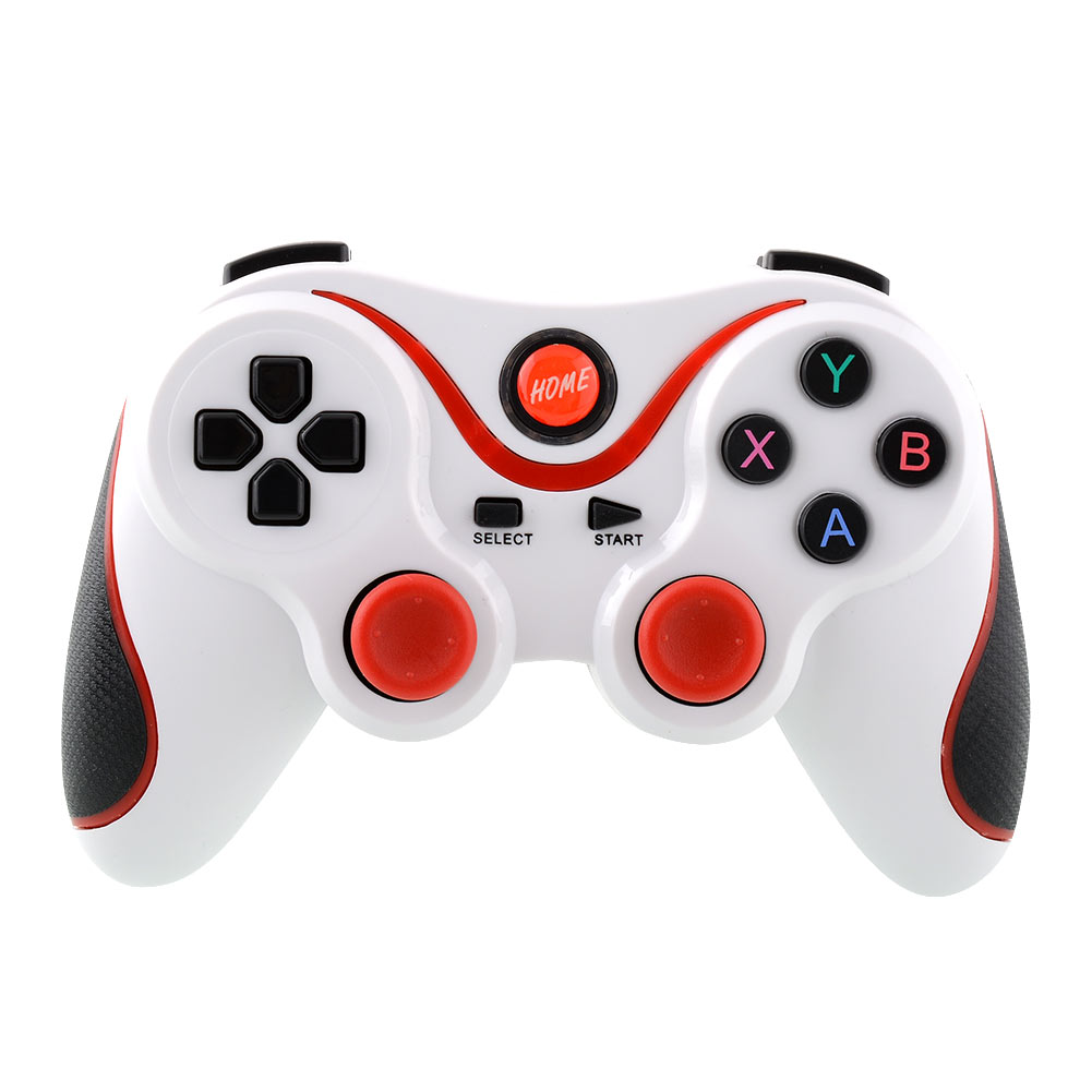 Гаджет  Hot Wireless Bluetooth Game Remote Gamepad Controller White+Red For Smart Android Phone ZTE Tablet PC None Бытовая электроника