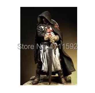 Free Shipping Figure RESIN Model DIY Part World War II Knights Templars Warrior With Sword(China (Mainland))