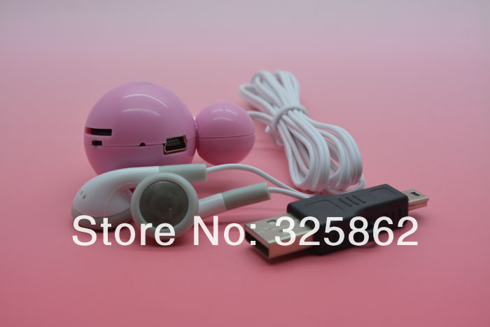 Free shipping 20pcs/lot New Design mini mickey mouse mp3 music player support 1 2 4 8 GB TF Card ,with usb cable&earphone(China (Mainland))