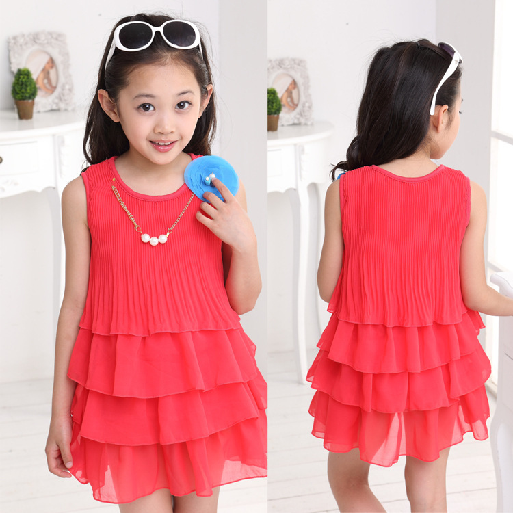 Girls Dresses Summer 2015  Pepa Pig Vestido Crianca Blue Beach Chiffon Children Clothing Wholesale Clothes 5pcs/lot<br><br>Aliexpress