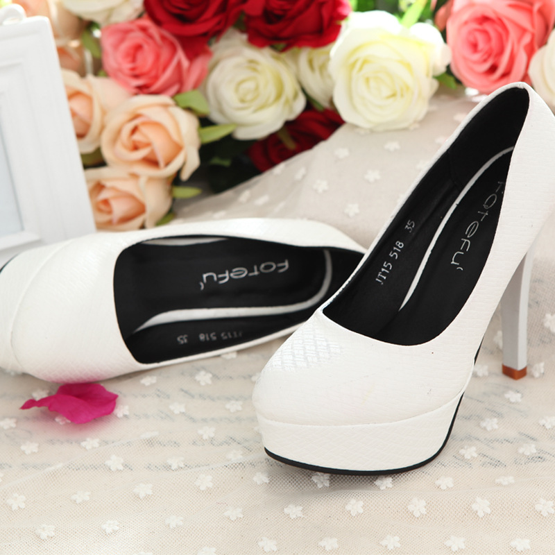 Sapato Feminino Special Offer Top Fashion Adhesive Shoes The Major Suit High Heels With A Fine Waterproof Shoes Wholesale 2015(China (Mainland))
