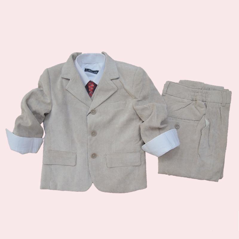 Ivory Formal Boys Suit Three Pieces Sets Toddler Clothing Suits Wedding Party - Dongguan Jiahao Apparel & Fashion Co., Ltd store