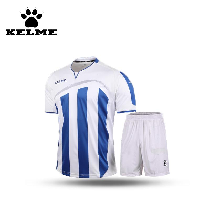 KELME 2016 Spain Hot Sale Mens Survetement Football Training Suit Stripe Youth Soccer Jerseys Uniform Shirt China Sportswear 69(China (Mainland))