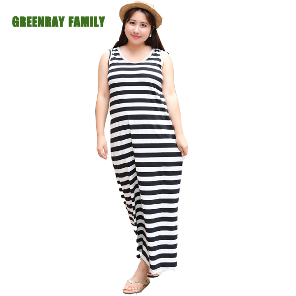 Black And White Striped Dress Plus Size - Women\'s Dresses