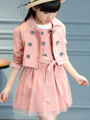 2016 New Sweet Children Clothing Girls Set Kids Clothes Brand Girls Clothing Autumn Sport Suits Toddler