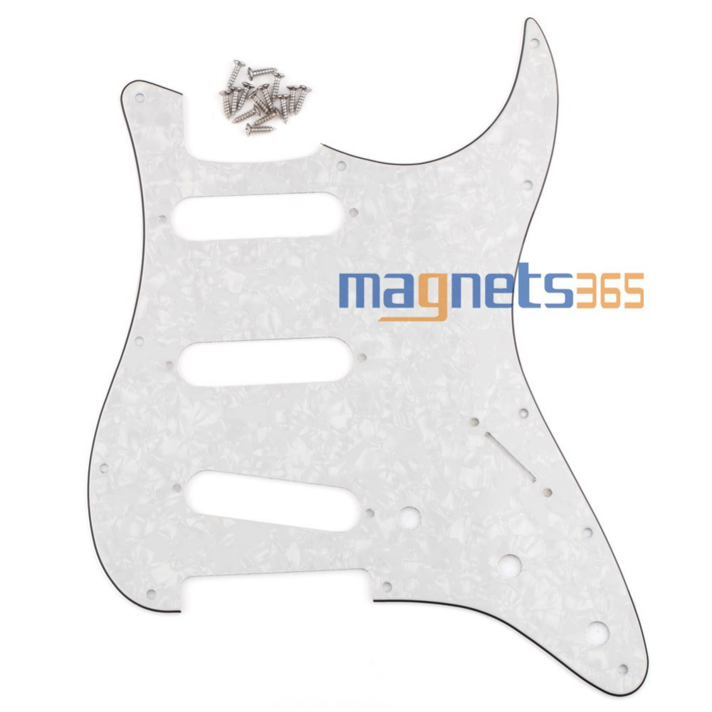 3Ply Pearl White Scratch Plate Strat Style Guitar Pickguard For Strat SSS(China (Mainland))
