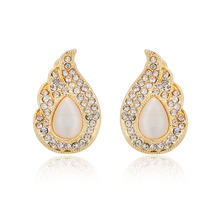 2015 new fashion jewelry earrings the size of the popular classic round 2.5cm * 1.6cm(China (Mainland))