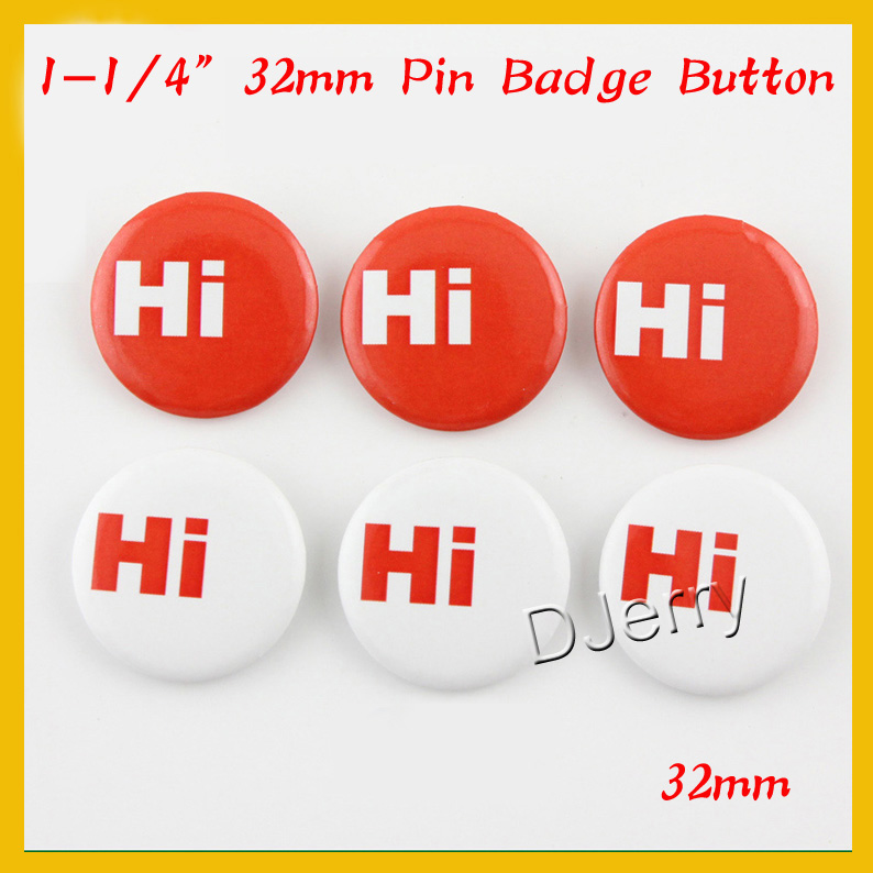 Free Shipping DHL 1.25(32mm) 1,000 Plastic Pin Badge Material,Blank button parts,Tin badge components<br><br>Aliexpress