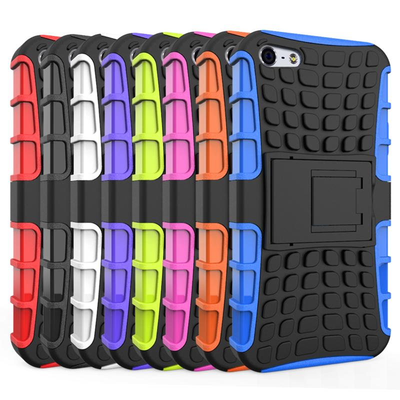 For iPhone 5s Case Heavy Duty Armor Shockproof Hybrid Hard Soft Silicone Rugged Rubber Phone Case Cover For iphone 5 5s <(China (Mainland))