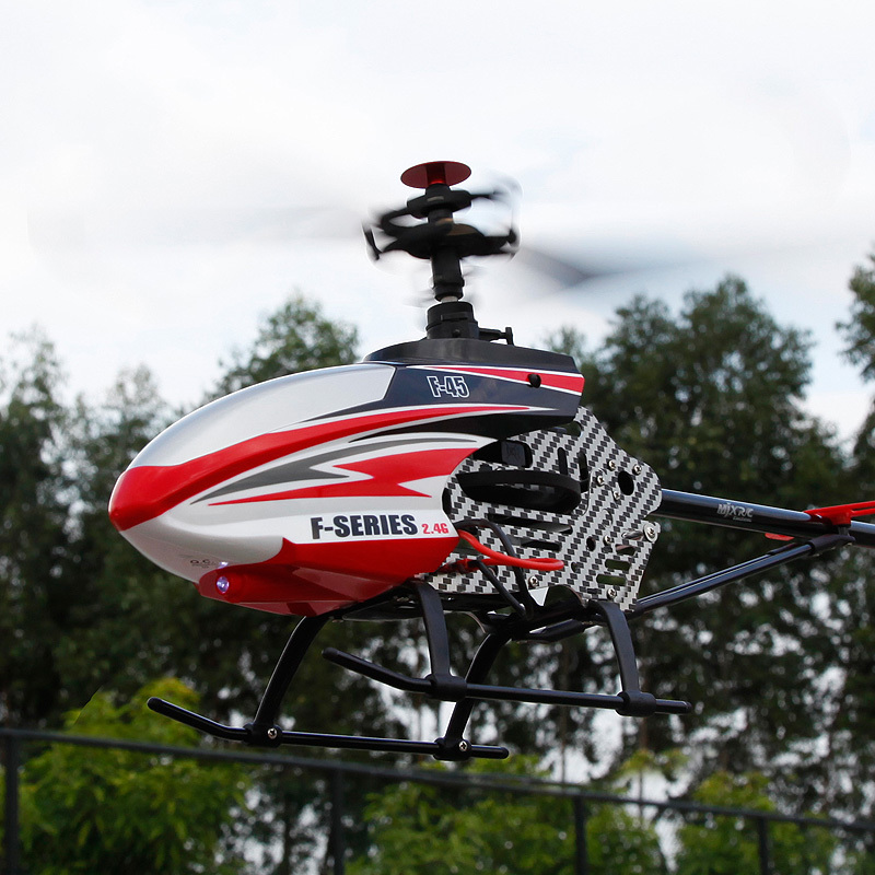 Express Delivery MJX RC Helicopter F45 F645 Large Size 4CH Heli Gyro and Great Powerful Brushless Motor(China (Mainland))