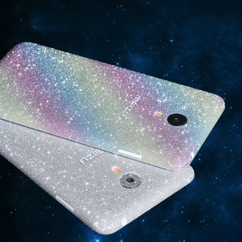 Full Body Film Protective Glitter Bling Sticker for Meizu MX4 MX4pro M Metal Decal Skin Matte Frosted Protective Cover Film(China (Mainland))
