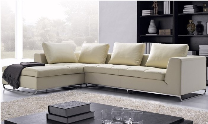 Free Shipping Arabic Living Room Sofas Top Grain Leather L Shaped Corner Modern Sofa Set