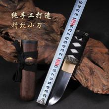 Mini короткая пункт katana компактный прямой нож лезвие sharp / марганца сталь лезвие ручной работы