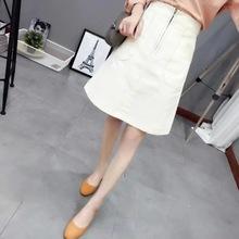 Fashion Women Linen Cotton Slim Office Skirts Women Summer Skirt 2016 Black White Knee Length A-Line Skirt High Waist Skirts